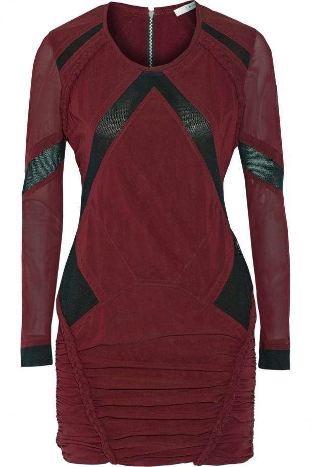 IRO_burgundy_dress_vinrod_klanning