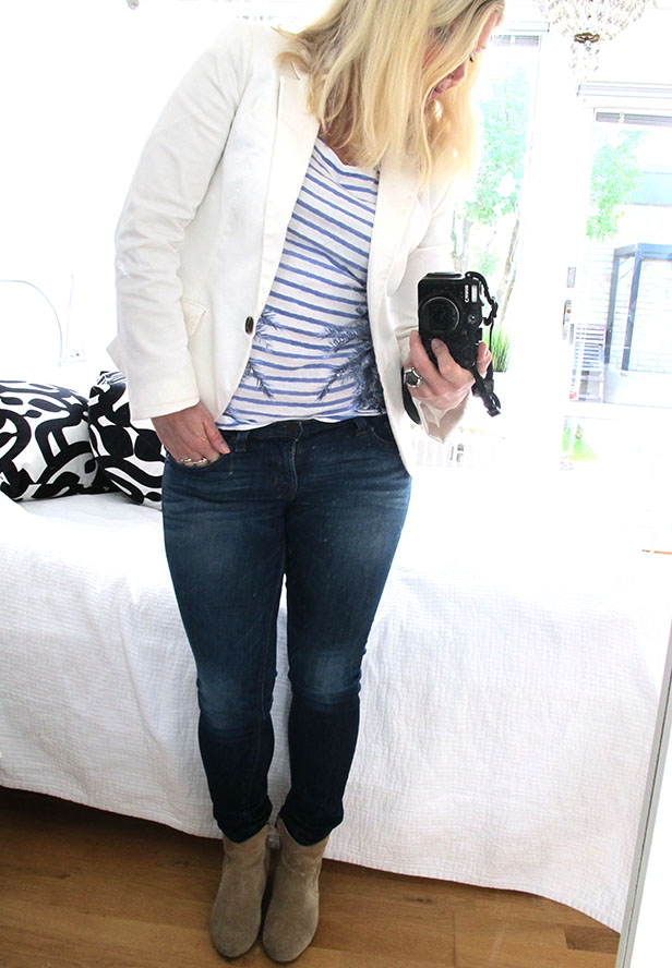 white_blazer_j_brand_jeans_striped_top