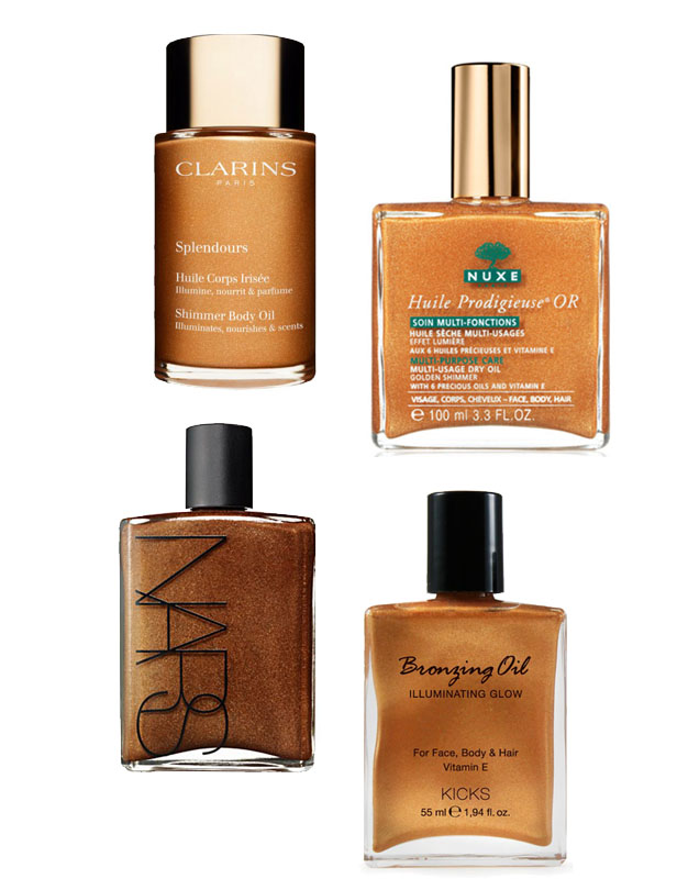 bronzing_shimmer_oil_clarins_nuxe_nars_kicks