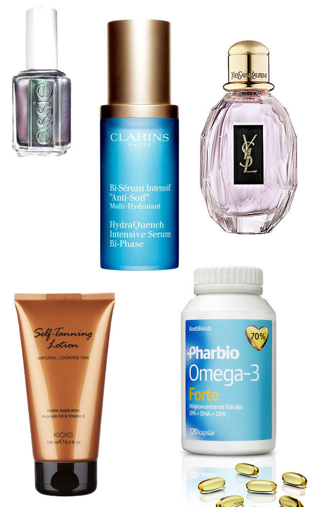 essie_ysl_parisienne_kicks_self_tan_pharbio_omega3-clarins_hydraquench_serum