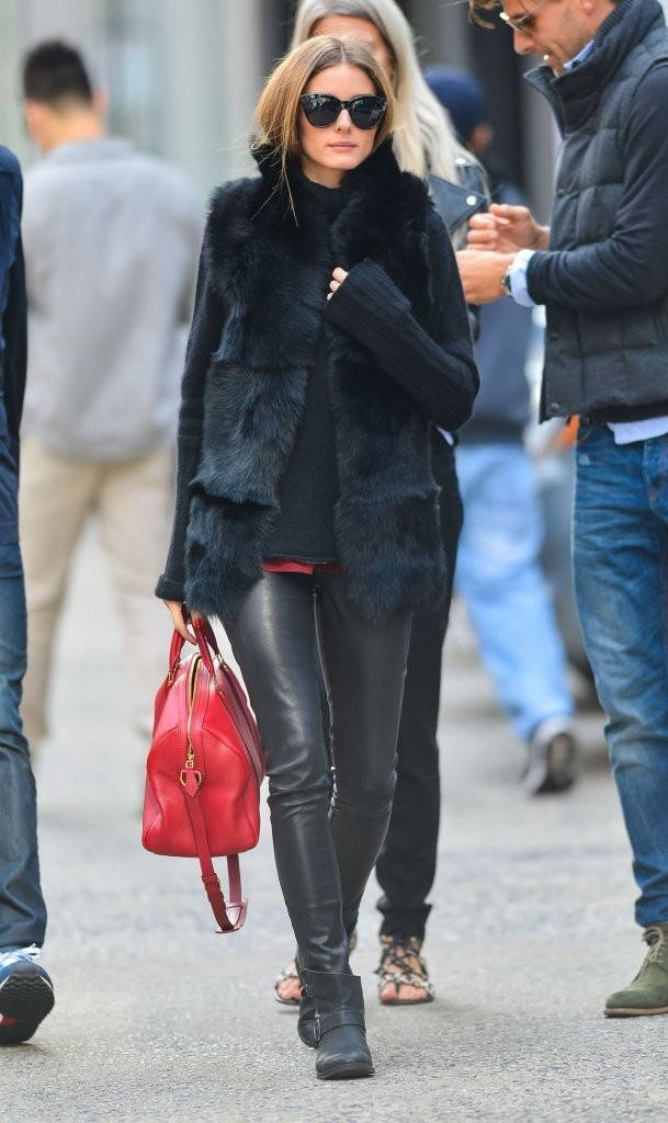 Olivia+Palermo+fur_vest_red_louis_vuitton_bag