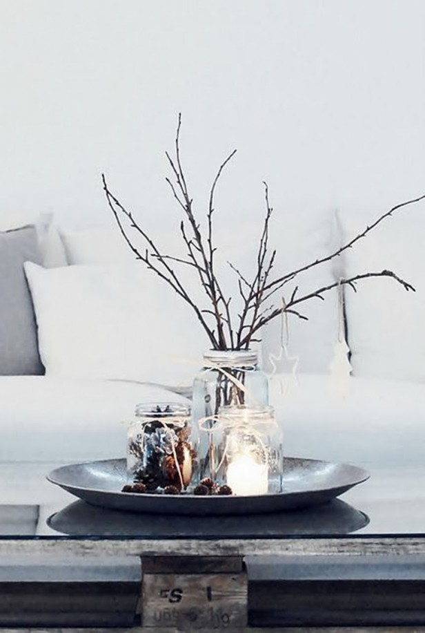 holiday-centerpiece-mason-jars-cozy-couch-christmas-decorations