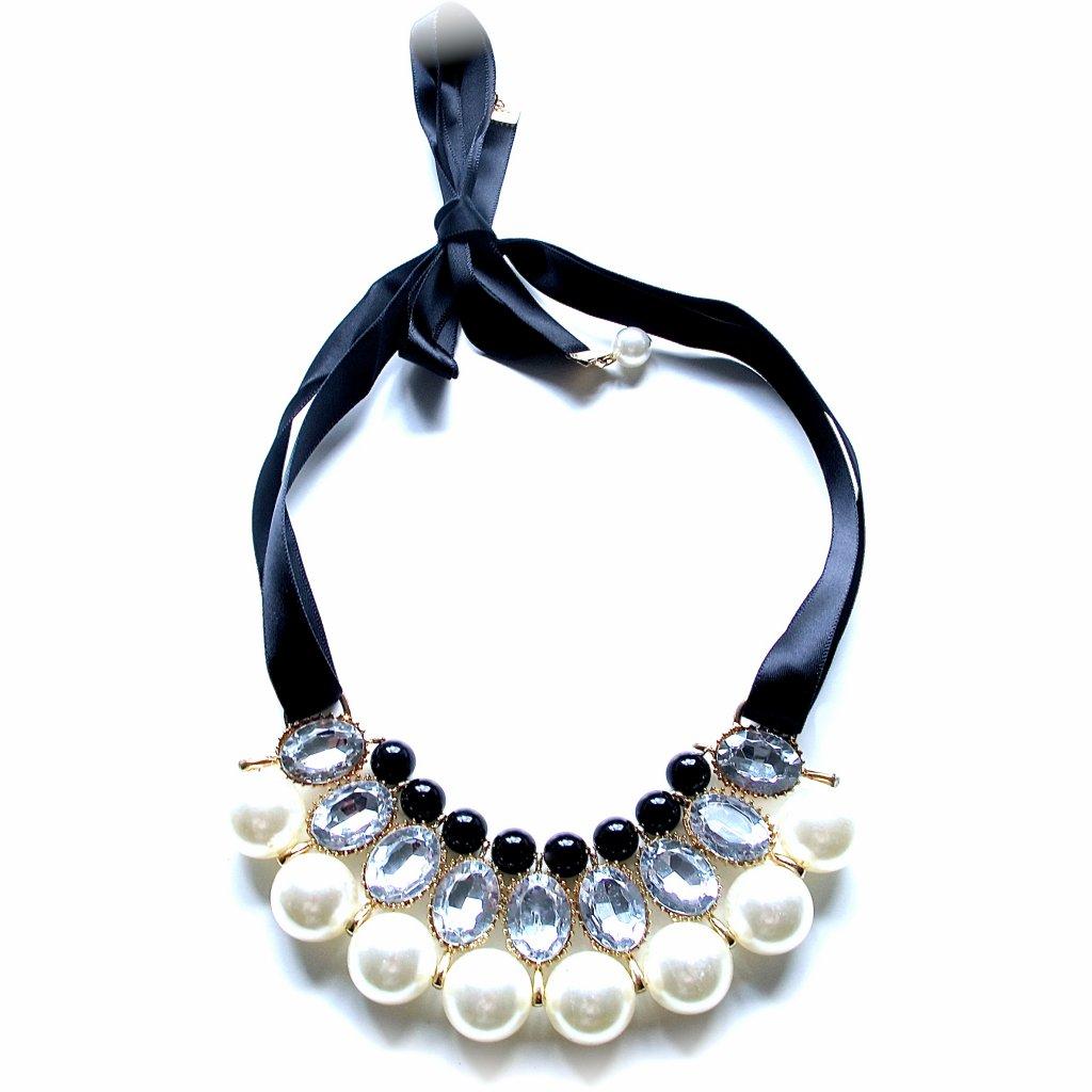 halsband med sidenband