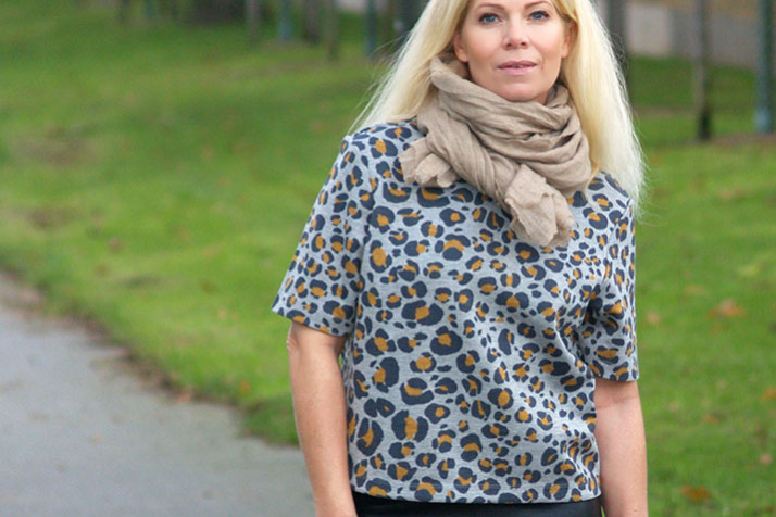 Ootd leopard, cashmere, leather