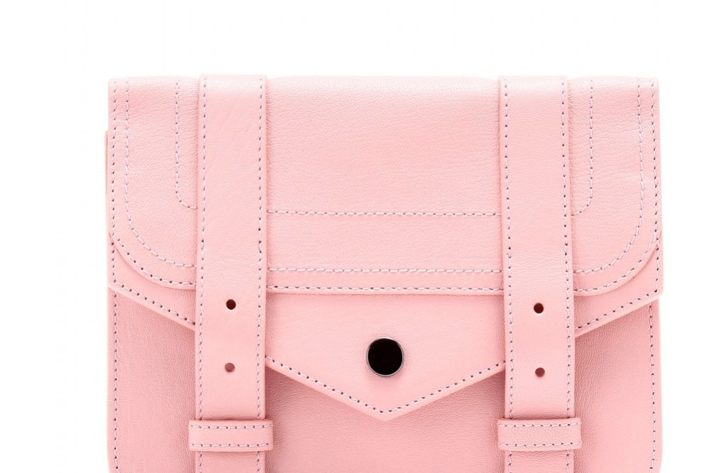 Proenza Schouler PS1 chain leather clutch in pink