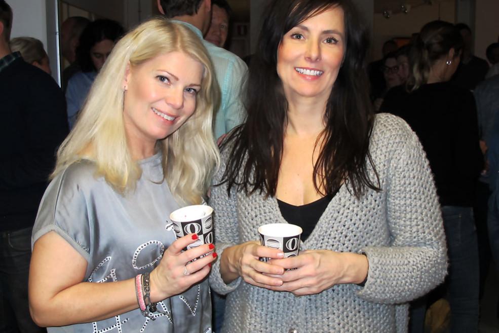 Annika och Anette på Mincs julmingel 2014
