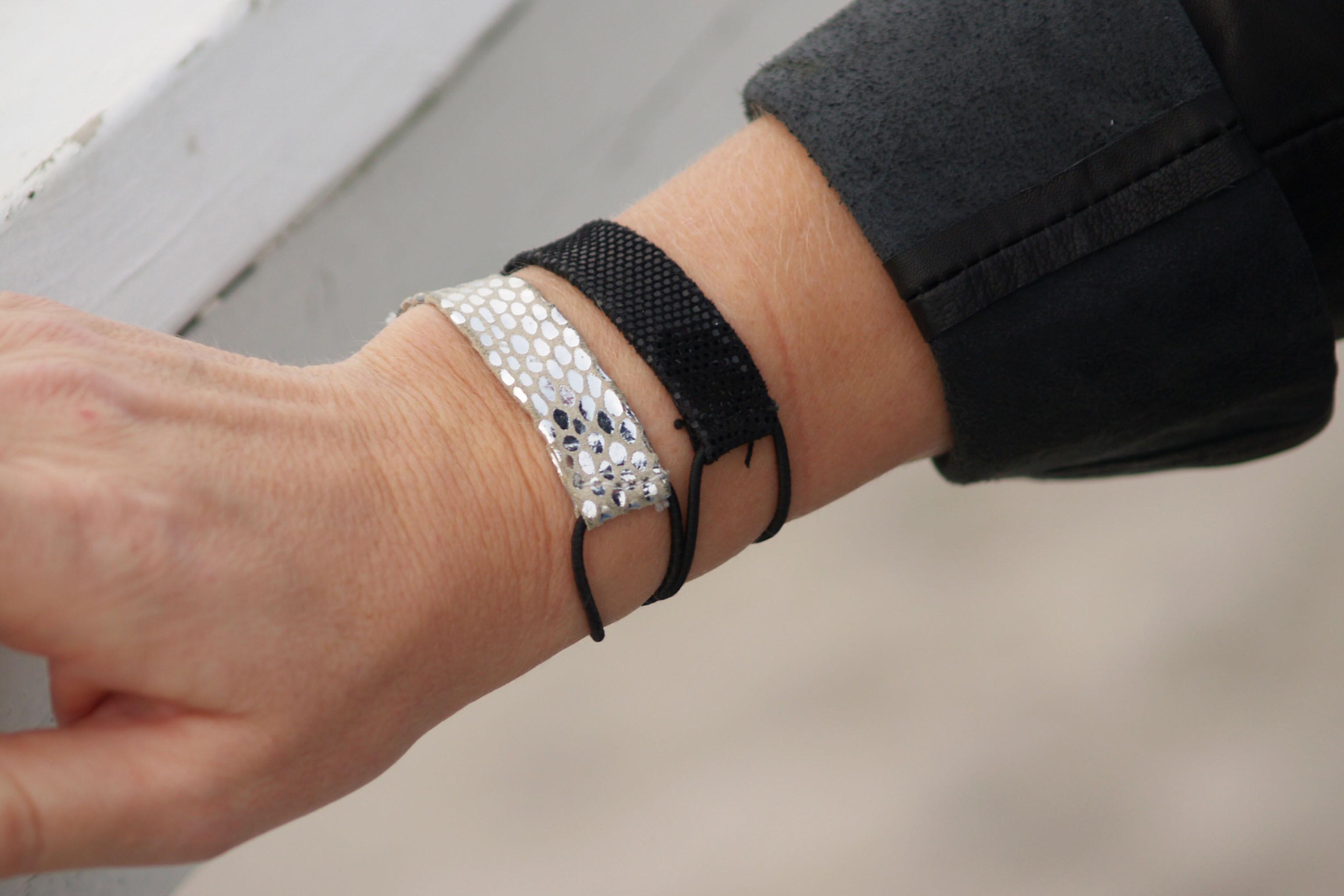 Armband från DHIPT i silver och svart