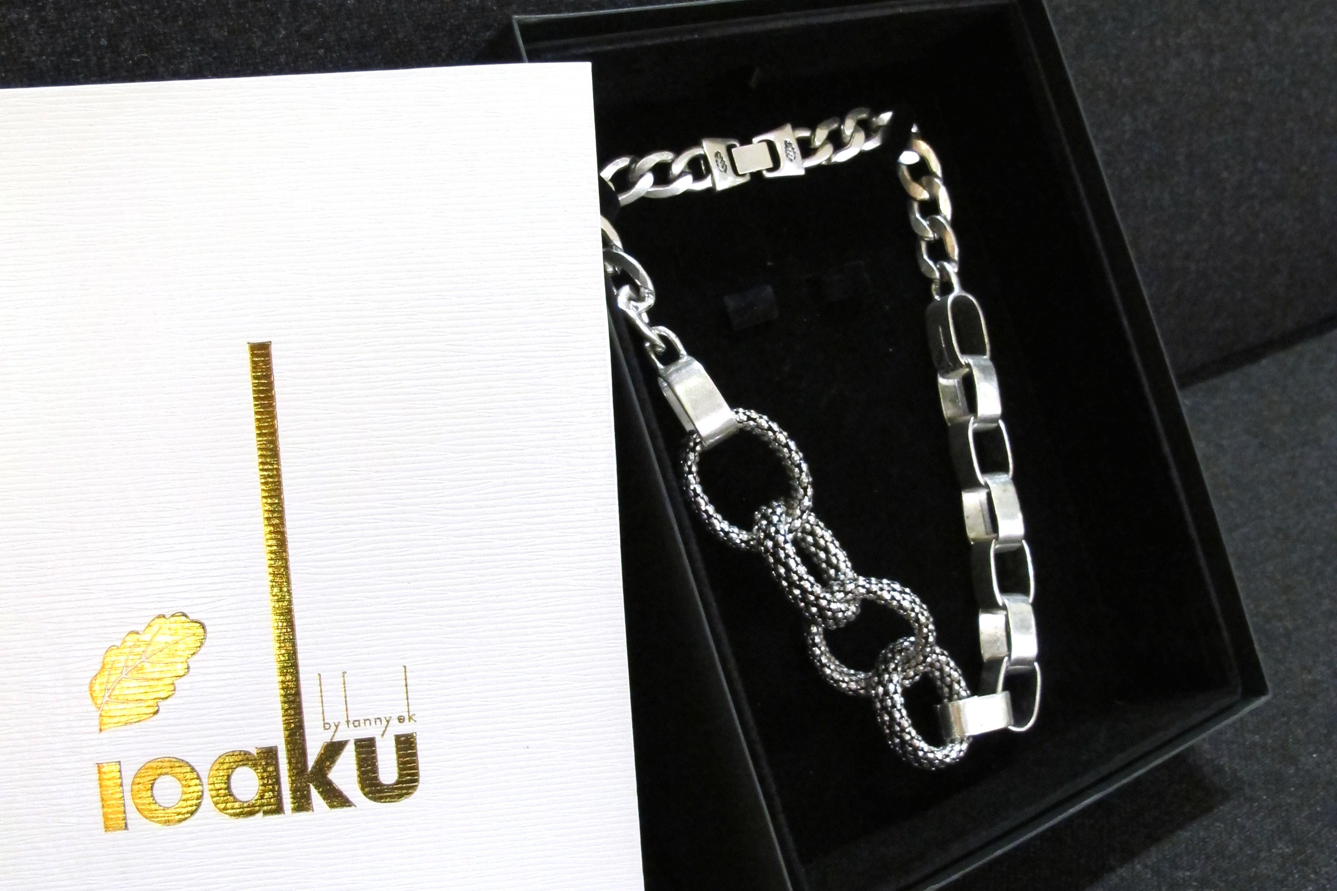 Lonk of life silver necklace Ioaku by Fanny Ek