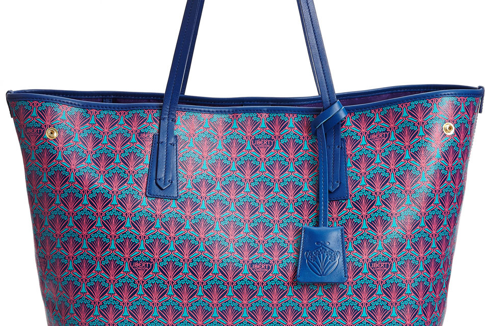 Liberty London blue Marlborough tote bag
