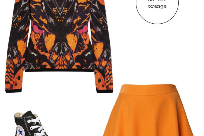 Orange print sweatshirt from mcq Alexancer McQueen