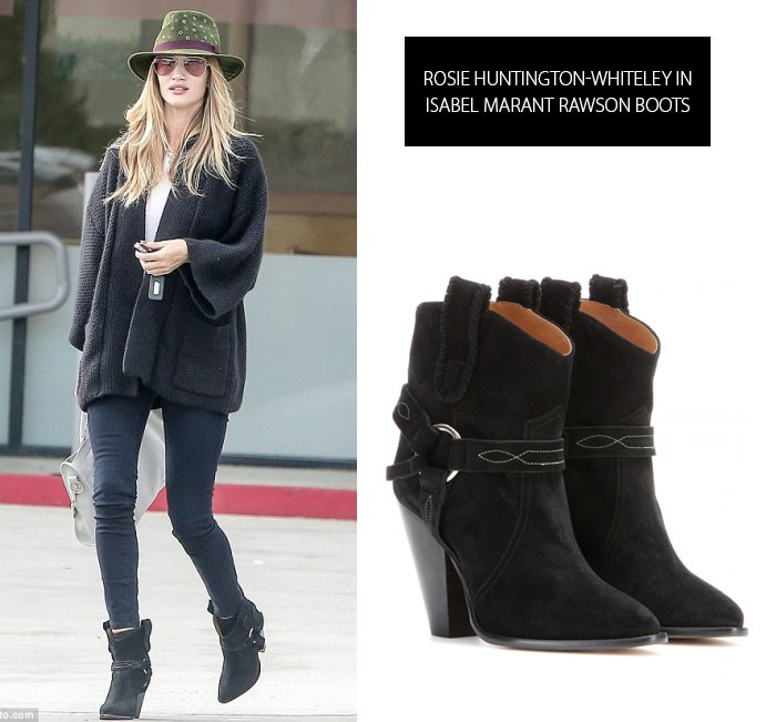 d1f24d63763 Rosie H-W in Isabel Marant boots - Soulcityguide