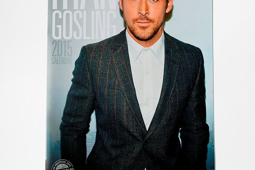 Ryan Gosling 2015 wall calendar as christmas gift for her