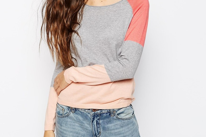 Spring news from Asos: a block coloured sweater