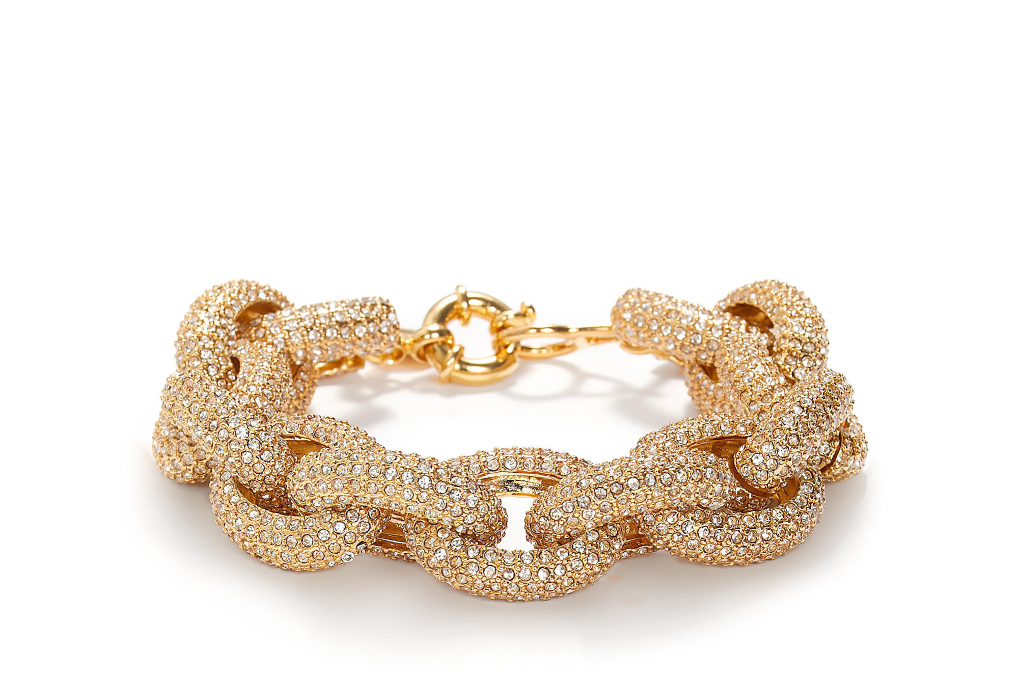 Classic Pavé Link Bracelet in gold with white stones from J Crew