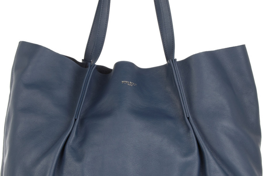 Nina Ricci large leather tote in petrol blue