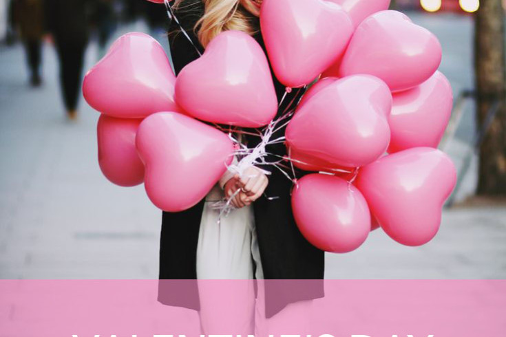 Pink heart balloons valentine's day gift ideas