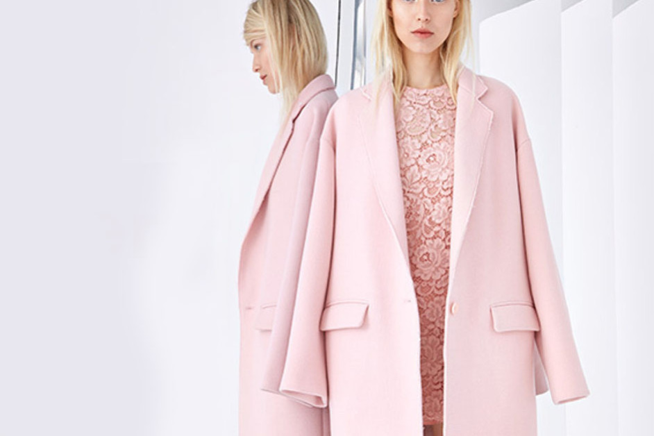 Pink lace dress and coat from DKNY