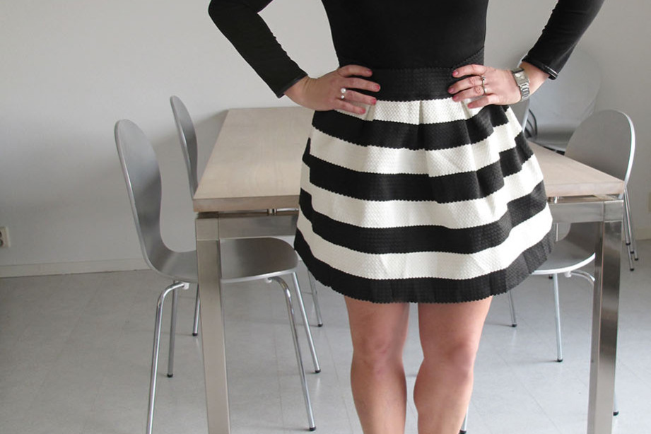 Sheinside black and white ballerina dress