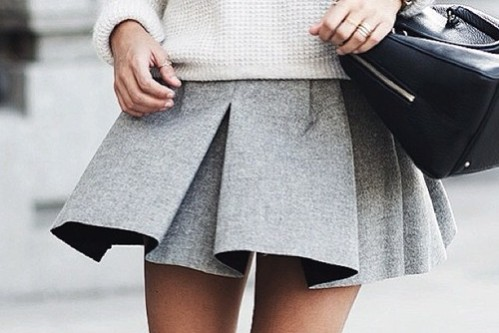 Short grey skirt