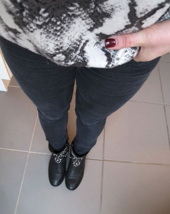 snakeskin sweater and studded boots from Isabel Marant
