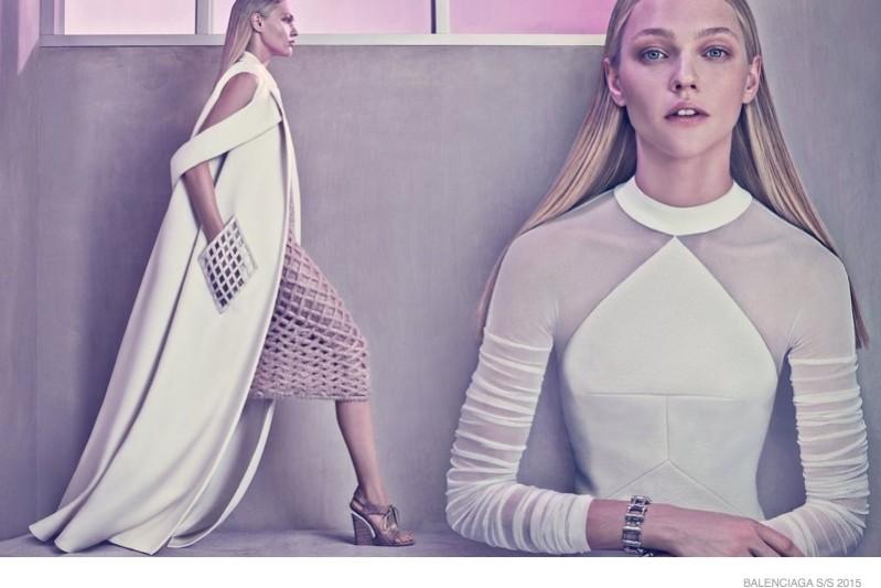 Balenciaga spring 2015 ad campaign sasha pivarova