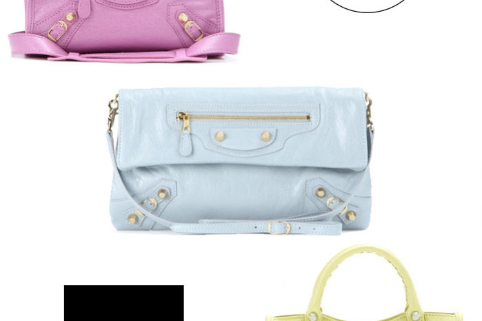 Balenciaga bags in pastel colors