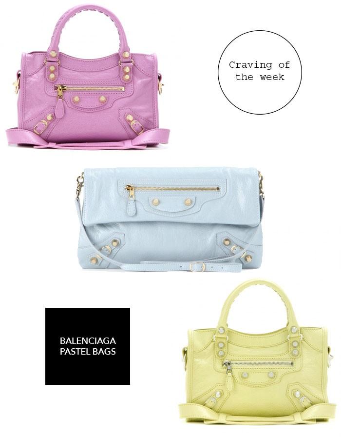 Balenciaga bags in pastel colors