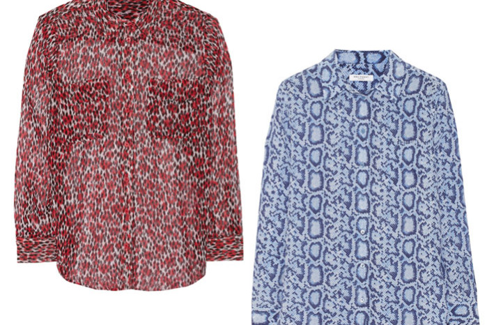 Equipment silk shirts on sale at the Outnet