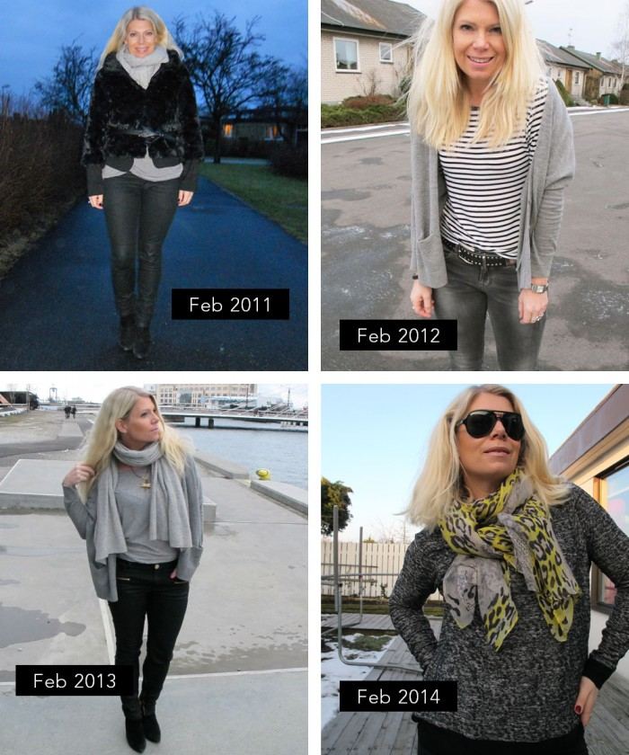 Soulcityguie February outfits from 2011 to 2014