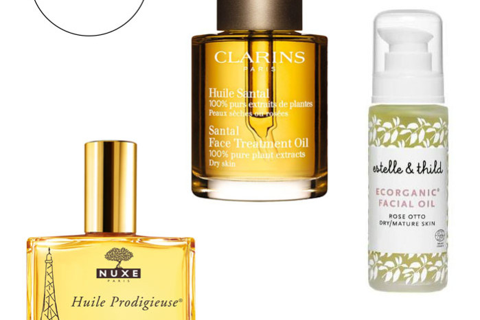 Hydrating face oils from Clarins, Nuxe and Estelle Thild