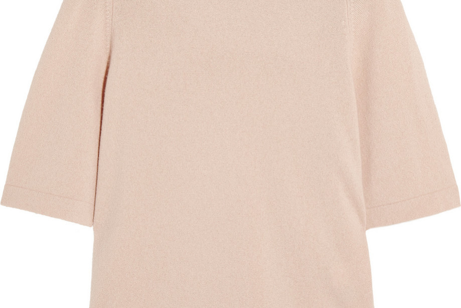 Neutral cashmere top from Iris & Ink at The Outnet