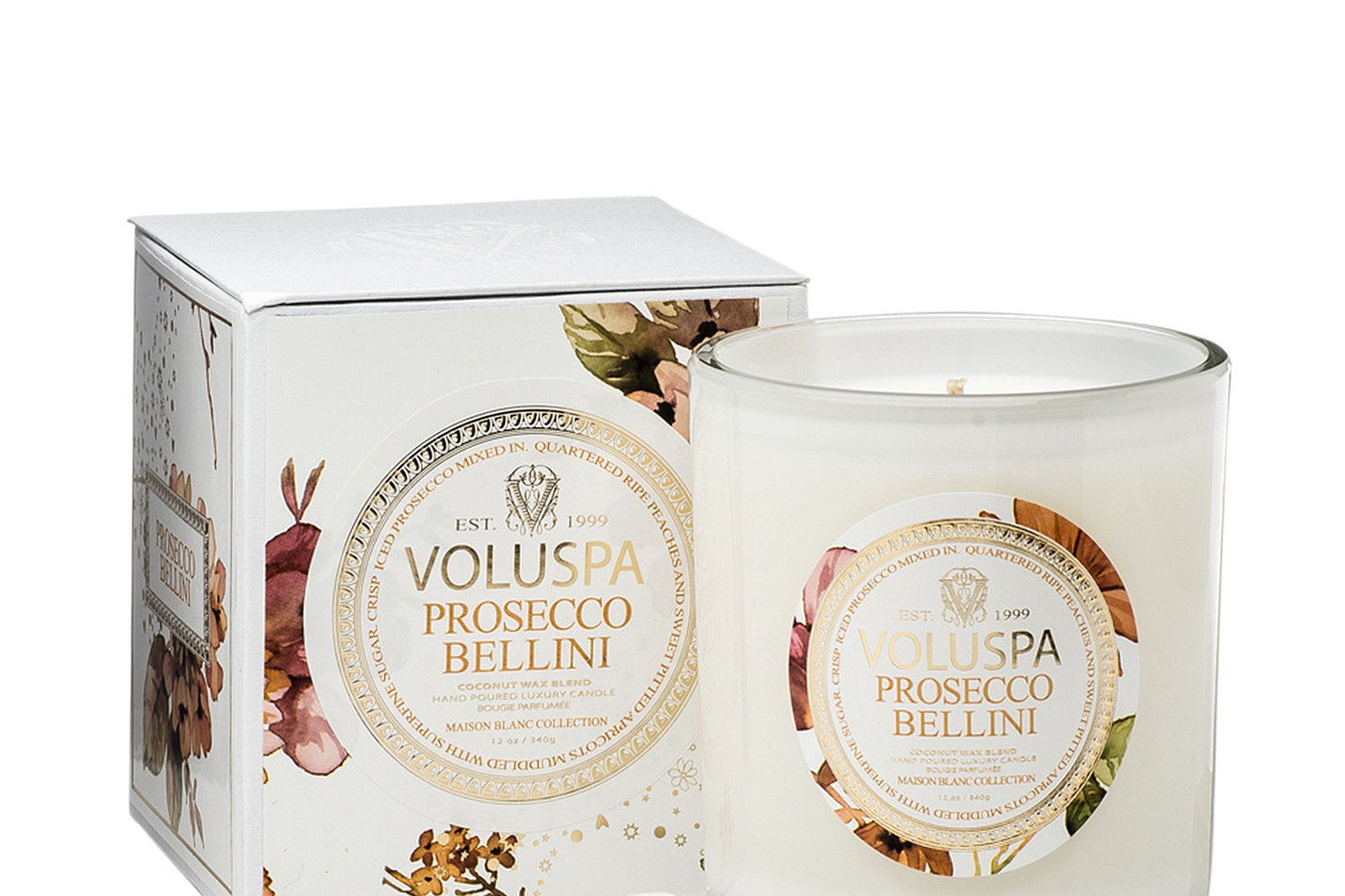 Prosecco Bellini voluspa scented candle