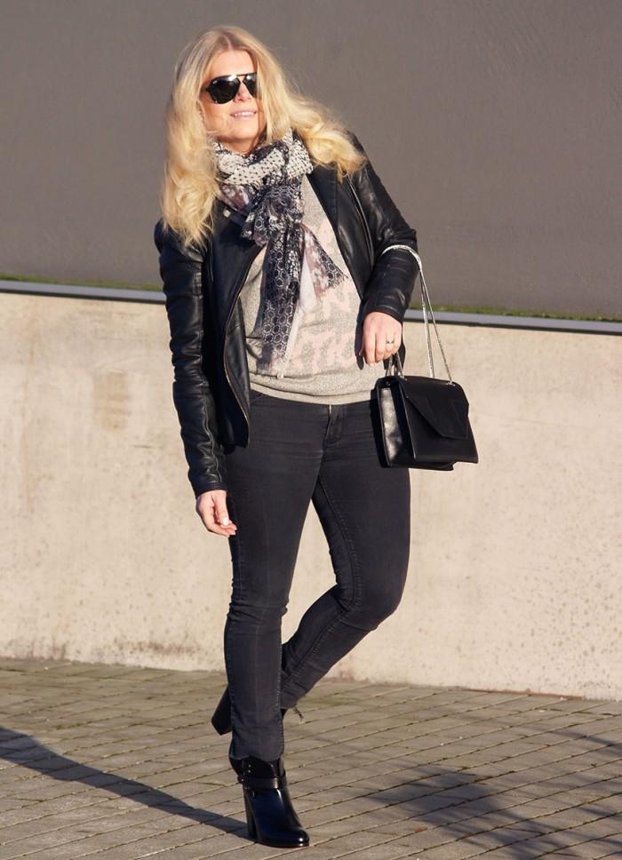 RAg & Bone Harrow boots in shiny black