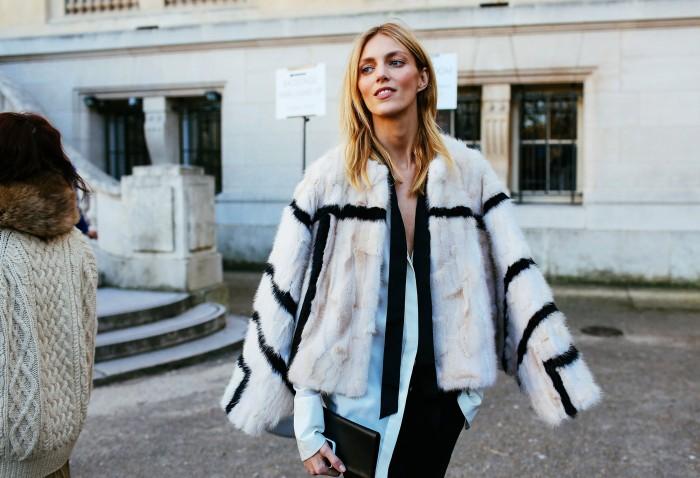 anja rubik pfw fur jacket