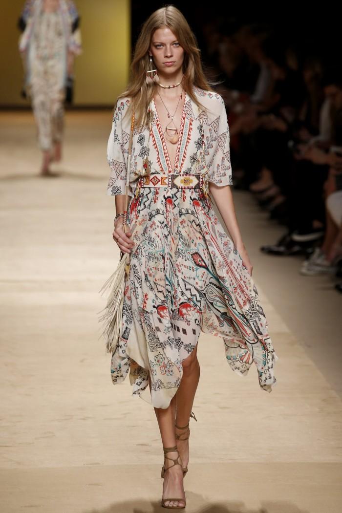 etro silk dress runway ss15