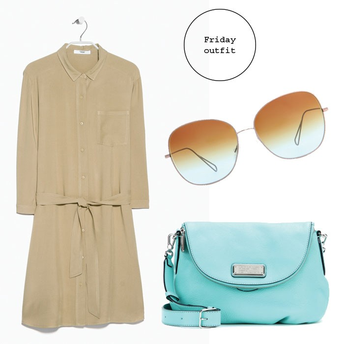 friday_outfit_beige_dress_isabel_marant_sunglasses_m_by_m_jacobs_turquouise_bag2