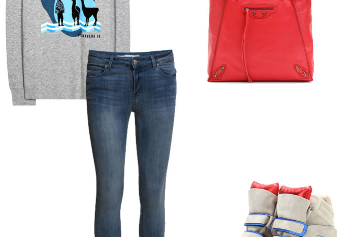 Isabel marant sweatshirt machu pichu and sneakers