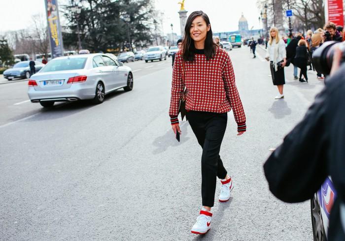 liu wen marni sweater and nike sneakers