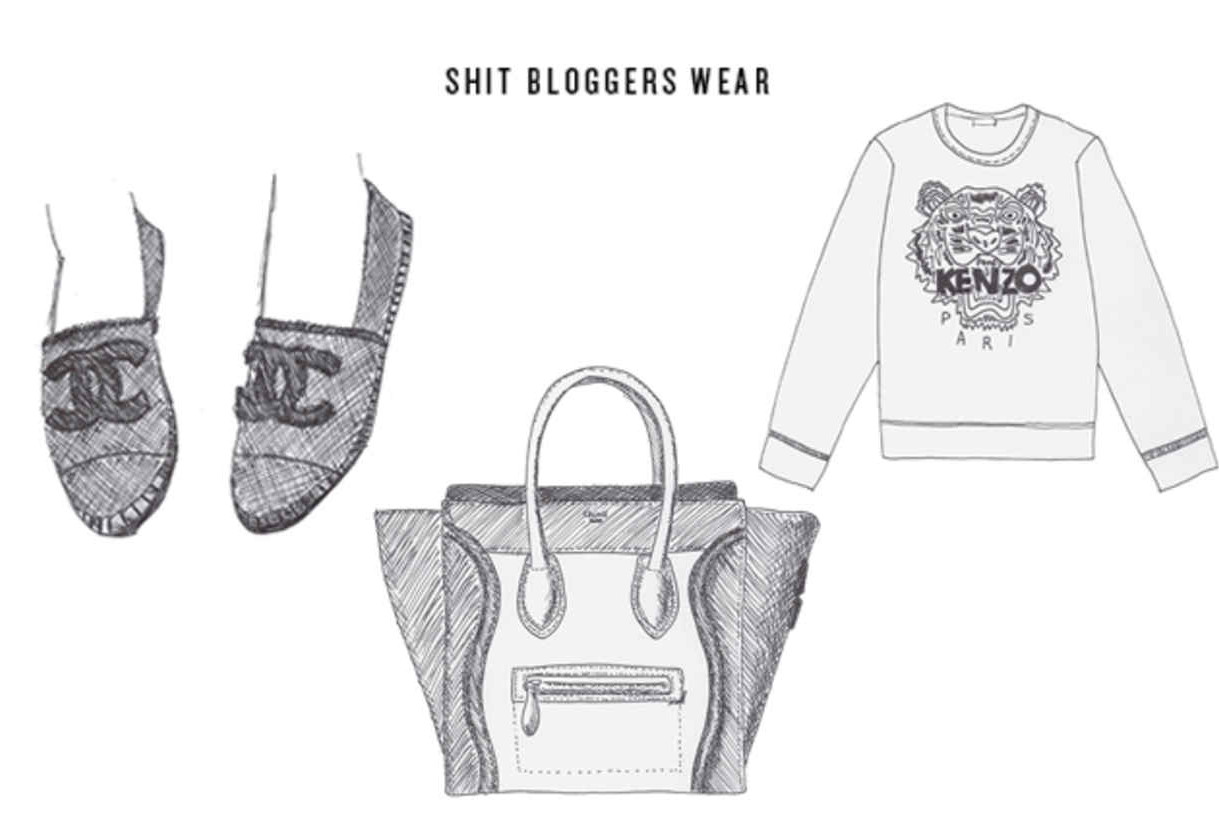 shit bloggers wear