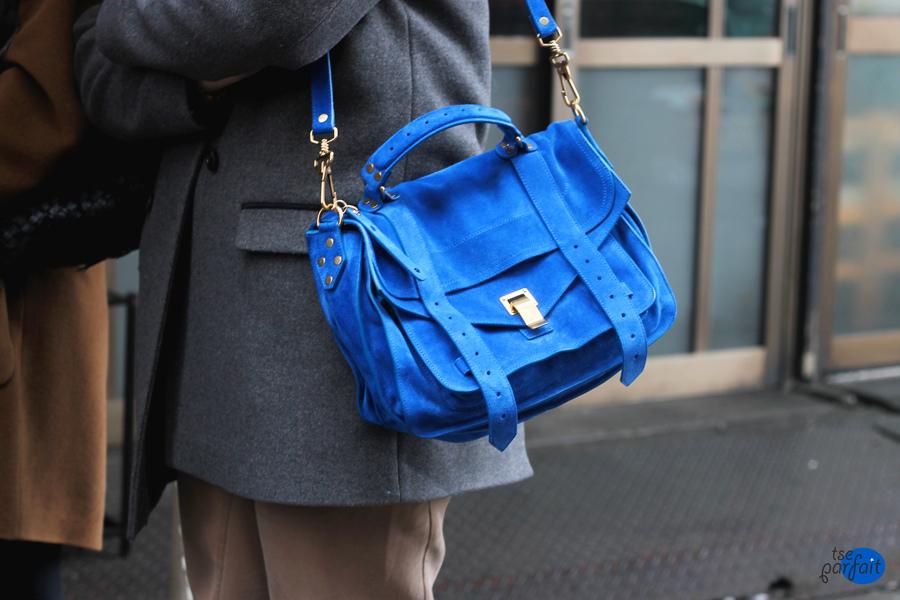 Proenza Schouler PS bag in cobalt blue suede