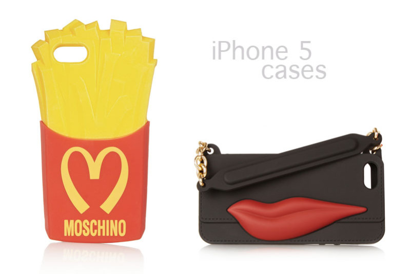 fun iphone 5 cases from moschino and dvf