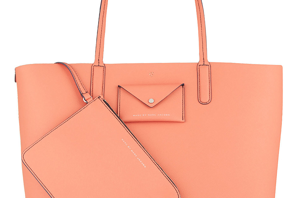 saffiano leather tote by marc by marc jacobs