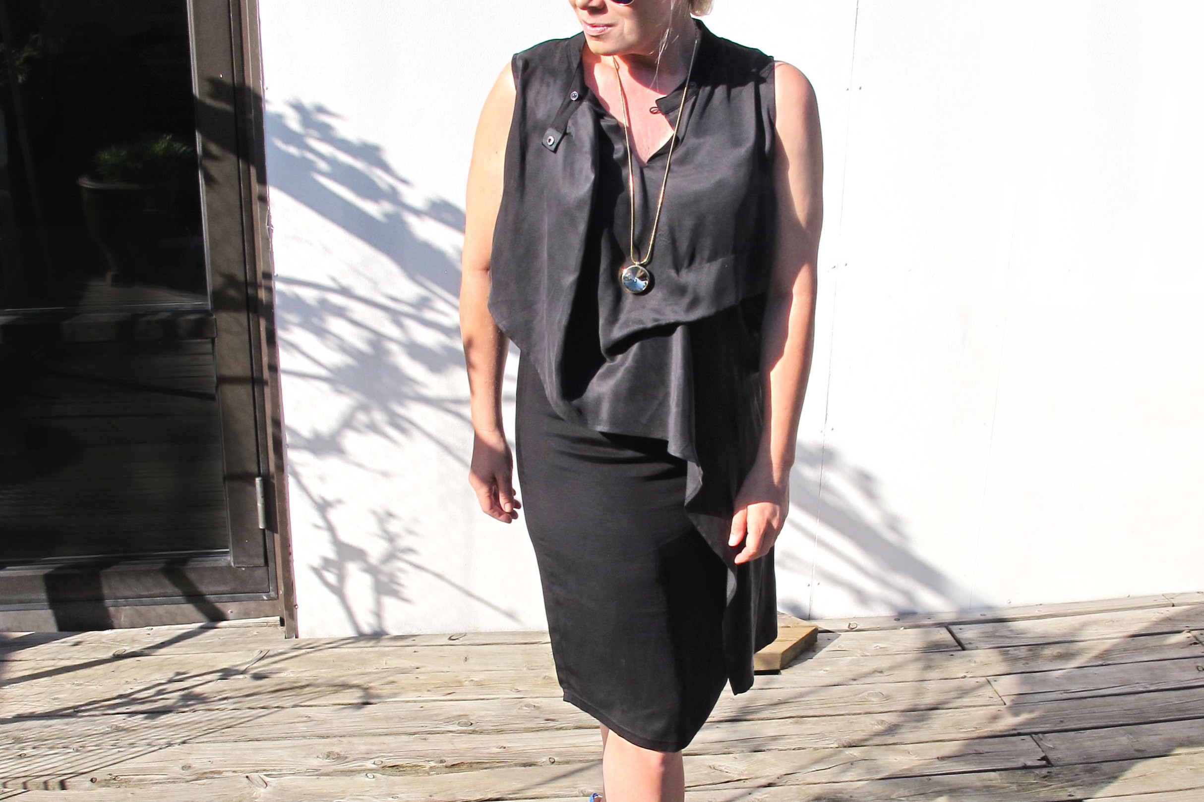 deniim hunter black dress