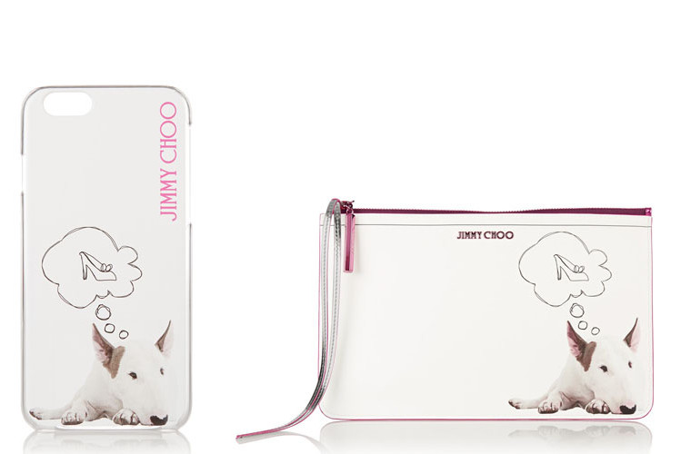 Jimmy choo dog iphone