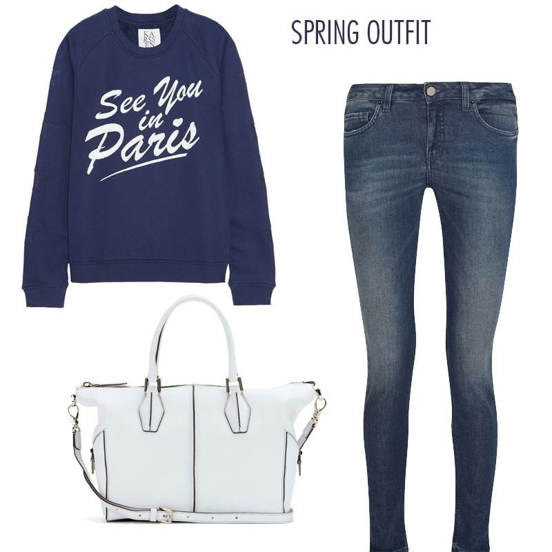 See you in Paris sweatshirt from Zoe Karssen