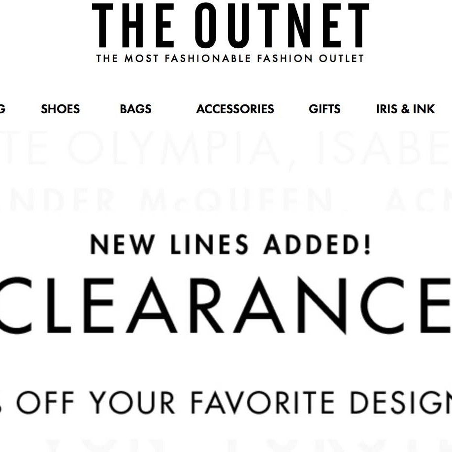 clearance sale hos the outnet