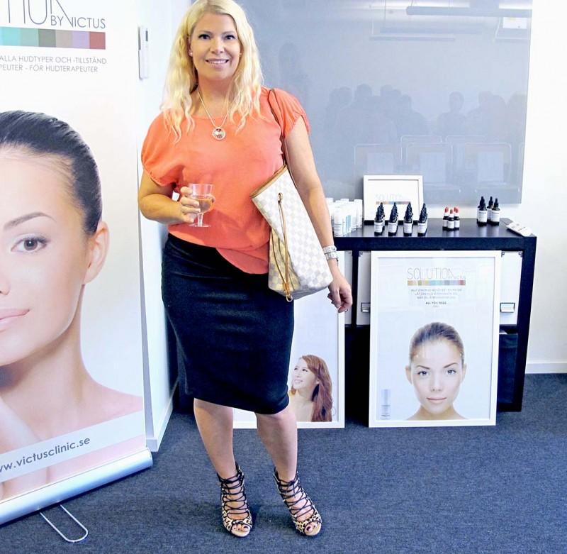 Annika Soulcityguide på event hos Victus Medical