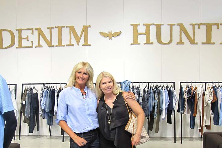 susanne och annika hos denim hunter ciff 2015