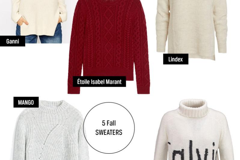 5 stickade tröjor från Ganni, Isabel Marant, Mango, Calvin Klein