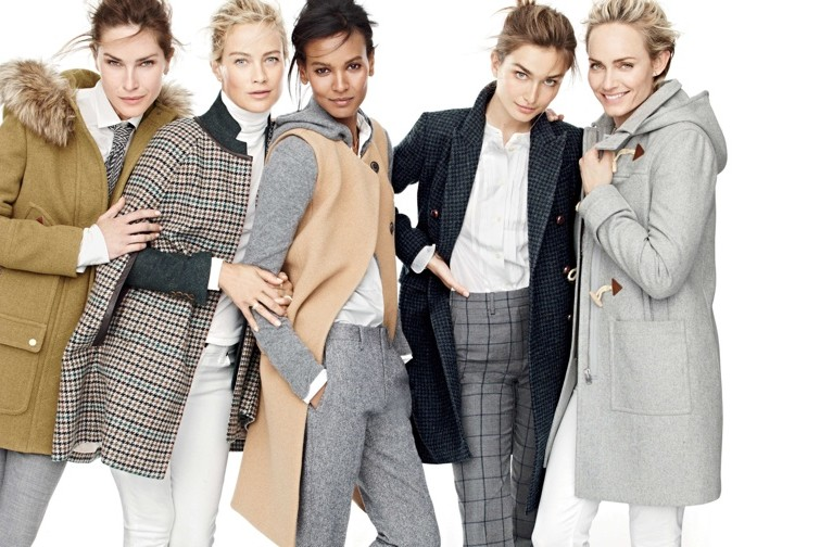 supermodels for j crew fall style guide